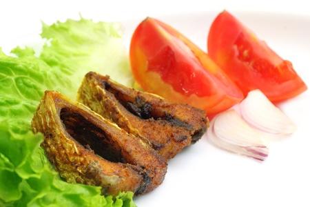 Popular Ilish fish of Southeast Asia salad items over white background Stock Photo - 17111960