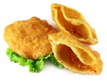 bengali: Snacks of flour with lentils named as Dalpuri in Bangladesh Stock Photo