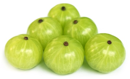 Amla fruits with selective focus