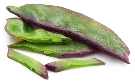 Hyacinth bean or Indian bean Stock Photo