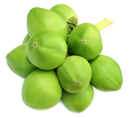 coconut drink: Green coconuts