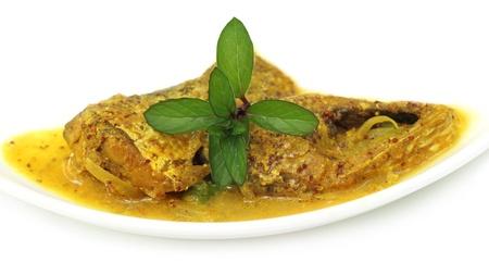 Mustard Ilish  A very popular Bengali cusine of Hilsa fish with mustard seeds Stock Photo - 17610394
