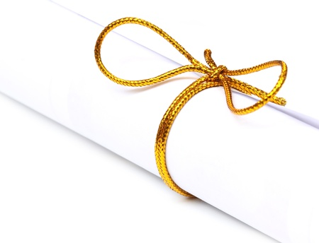 graduation party: Bow knot on a scrolled paper