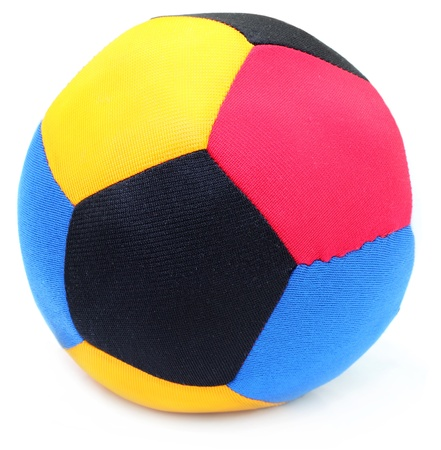 Ball made of colorful cloths Stock Photo