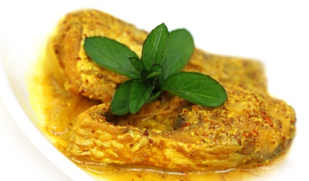 Mustard Ilish  A very popular Bengali cusine of Hilsa fish with mustard seeds Stock Photo - 19217036