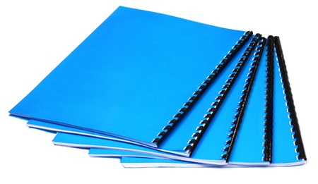Blue Spiral bound note books photo