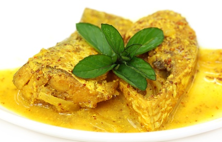 Mustard Ilish  A very popular Bengali cusine of Hilsa fish with mustard seeds Stock Photo - 19373696