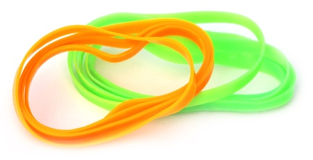 Colorful rubber bands photo