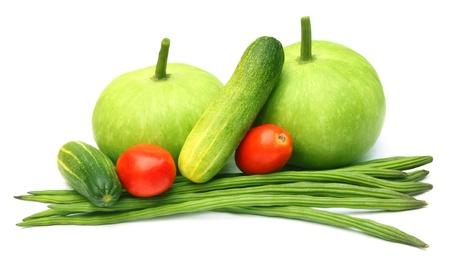 oleifera: Hortalizas frescas Botella calabaza, pepino, tomate y moringa oleifera
