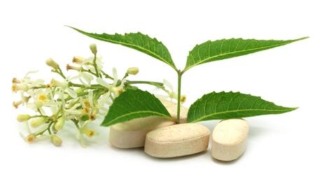 neem: Pills made from medicinal neem