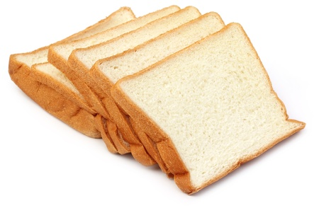 Fresh loaves over white background photo