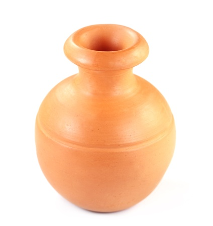 showpiece: Clay pottery used as water jar in Southeast Asia Stock Photo