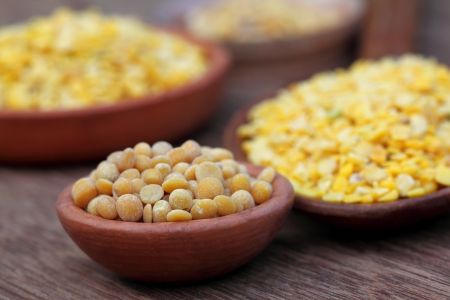 pigeon pea: Pigeon pea with other pulses Stock Photo