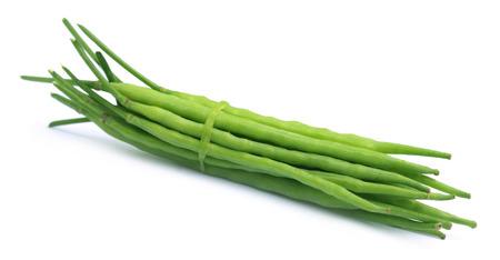 indian mustard: Bundle of green mustard beans