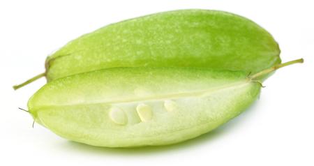 bilimbi: Closeup of Bilimbi fruit over white background