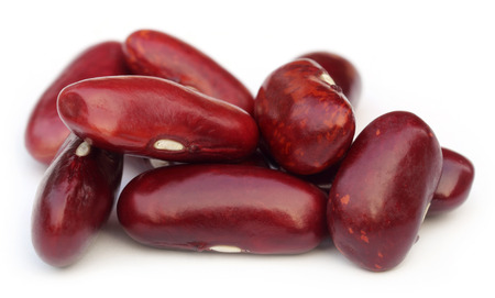 Rajma dal- kind of Indian edible pulses over white background photo