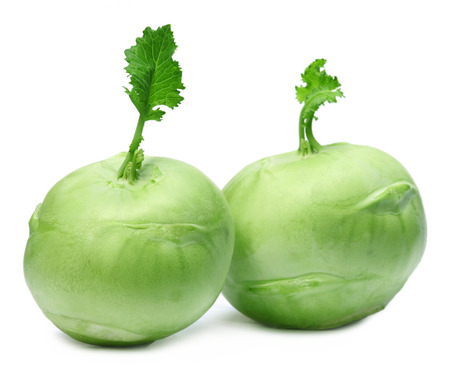German turnips over white background photo