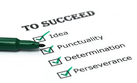 Way to success checklist on white paper photo