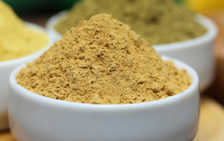 Close up of henna and sandalwood powder photo
