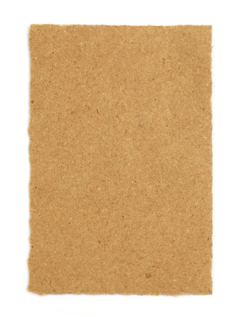 Brown paper over white background photo