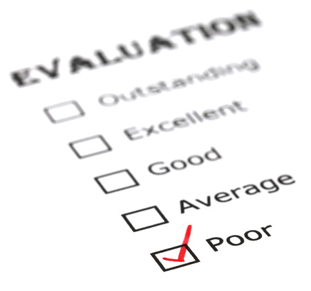 Poor evaluation on white paper photo
