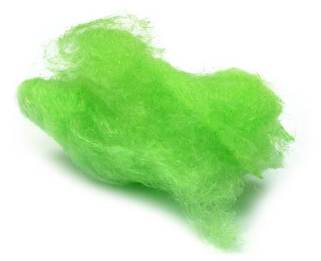 algodon de azucar: Algodón de azúcar verde sobre fondo blanco