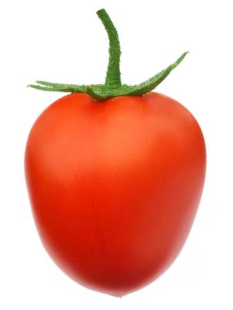 isoalated: Ripe tomato isoalated over white background