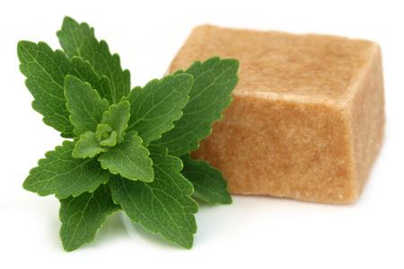gulab: Bangladeshi sweets named as Sandesh with stevia over white