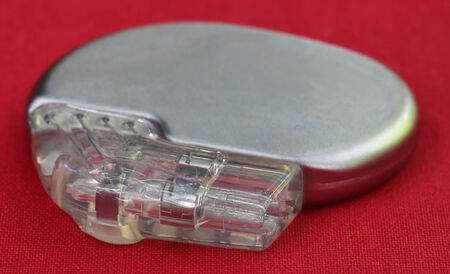 pacemaker: Pacemaker on a red surface