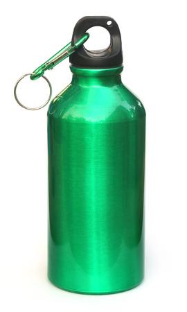 water bottle: Water bottle over white background