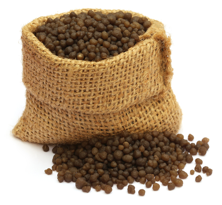phosphate: Diammonium phosphate fertilizer in sack bag