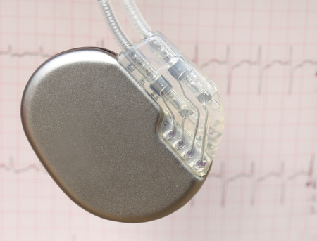 electrocardiograph: Close up of Electrocardiograph with pacemaker