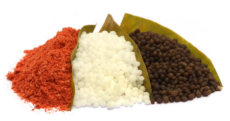 urea: Chemical fertilizer over white background