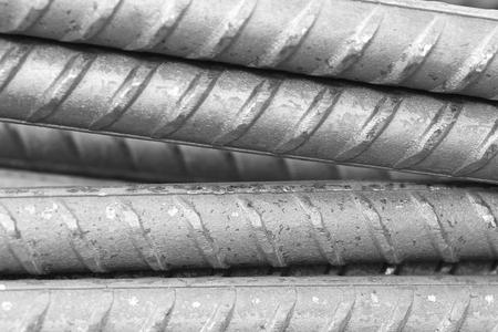 reinforcing bar: Close up of Reinforcing steel bar for construction