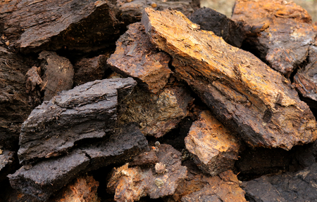 Close up some blocks at peat field Reklamní fotografie