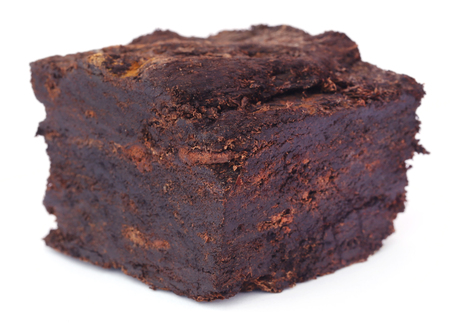 turba: Close up of peat block over white background