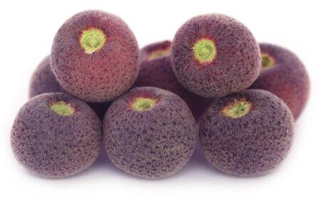 asiatica: Grewia asiatica or Falsa fruits of Southeast Asia over white background Stock Photo