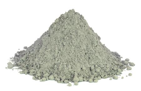 흰색 배경 위에 그래디 시멘트 파우더