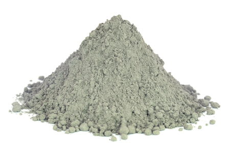 Grady cement powder over white background Banco de Imagens