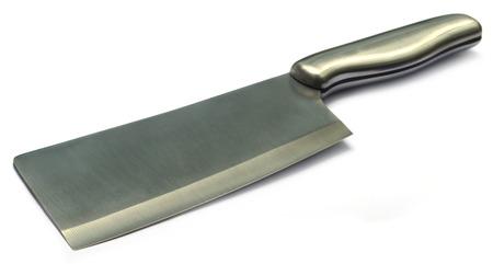 kitchen knife: Kitchen knife over white background Stock Photo