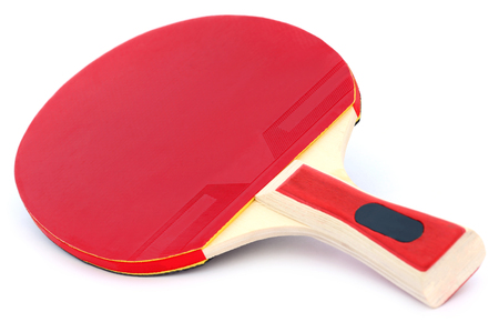 table tennis: Table tennis bat over white background