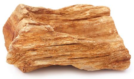 sedimentary: Sedimentary rocks over white background