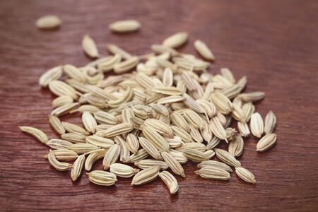 fennel seeds: Fennel seeds on wooden surface