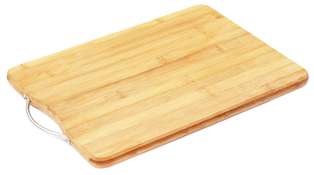 Chopping board over white background