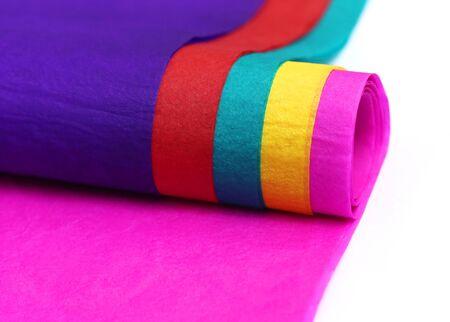 colored paper: Decorative colored paper over white background