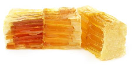 honey comb: Honey comb over white background