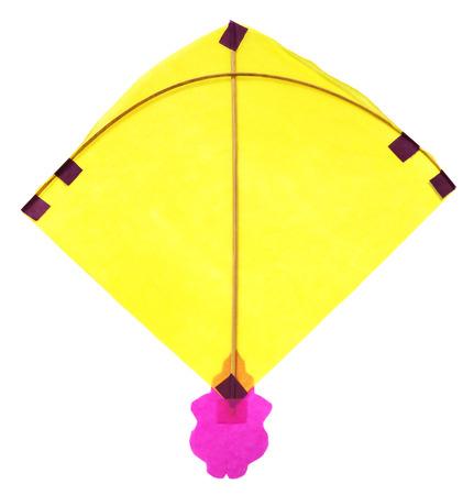 paper kites: Traditional Bangladeshi kite made of thin paper over white background Stock Photo