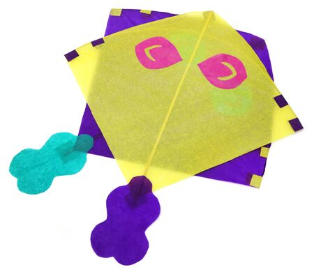 paper kites: Traditional Bangladeshi kites made of thin papers Stock Photo