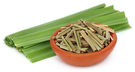 Lemongrass over white background Stock Photo