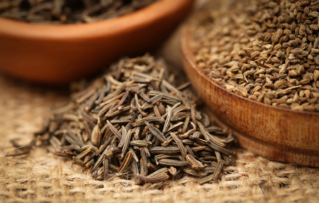 Caraway seeds with other spices Stock fotó